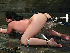 Ariel X gets taped up in scene with fucking machine