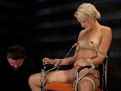 Dylan Ryan is bound, fucked, made to suck cock, suspended, and put through grueling electrical torture.