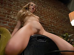 Lexi Belle is fucking machine-she fucks 5 machines in a row without stopping. Cums all over, then starts again in the perfect pussy circuit training.