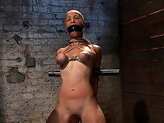 Part 1/4 of Aug Live show: Audrey had her breast bound and huge mouth properly gagged. Legs spread and helpless. nipples clamped and made to cum, and