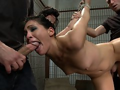 Beautiful girl fantasizes about being snatched out of parking lot, held captive, and fucked in every hole by a large group of men