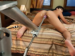 Japanese bondage model freed to fuck machines however she likes-her sexy body moves like a minx while she cums with toe curling, high pitched orgasms.