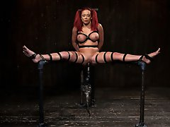 Mia is bound, caned, chained and fucked til she cums. Pain and pleasure combined nearly push her over the edge. Hot scenes of uniquely kinky torment.