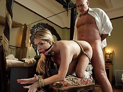 Hot MILF maid ass fucked and punished in bondage.