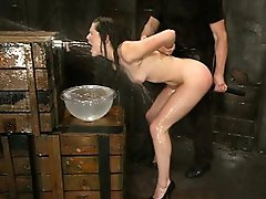 Bobbi Starr gets a gentle introduction to bdsm on Waterbondage