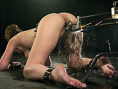 Jade Marxxx works hard for her orgasms in this predicament scene