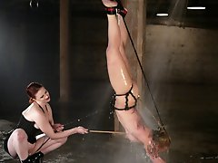 Angelene Black gets hard anal fucking in Waterbondage