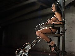 Gorgeous Nadia Styles finds herself screwed to the wall