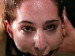 Sexy young woman is tied up, fucked and water tortured