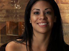 Cassandra Cruz strips naked in a porn shop and gets fucked by a stranger