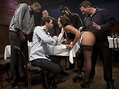 Leilani Leeanne is a waitress with an attitude who gets her round ass pounded hard.