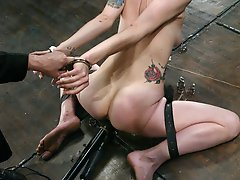 Hot self bondage predicament scene is played out by Pinky Lee