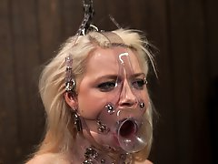 Anikka Albright's first bondage shoot - she gets chained up, ass fucked upside down, and gets an unrelenting ride on the sybian.