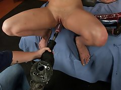 Texas Belle-ette just destroys the machines - endlessly deep pussy fucking over 10in buried and still hunger. She fucks the machines until they smoke.