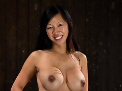 Tia Ling survives brutal nipple torment. Ass fucked, ass hooked, machine fucked. Her sexy body is displayed in various orgasm inducing positions.