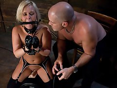 Sasha knox suspended, dog play, bondage and anal sex.