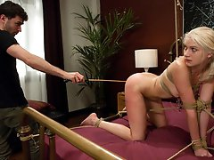 Hot gold digging whore gets fucked and punished.