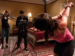 Charley Chase dominated and fucked by film crew.